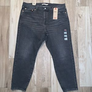 Levi's Wedgie Skinny High Rise Black Jeans